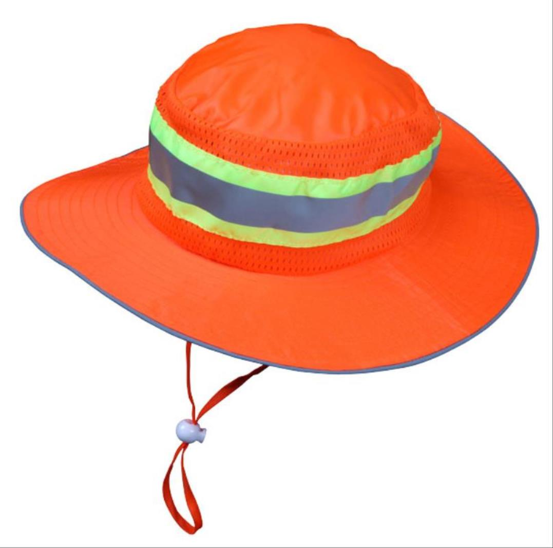 Two Tone Ranger Hat, One Size Fits All, Orange