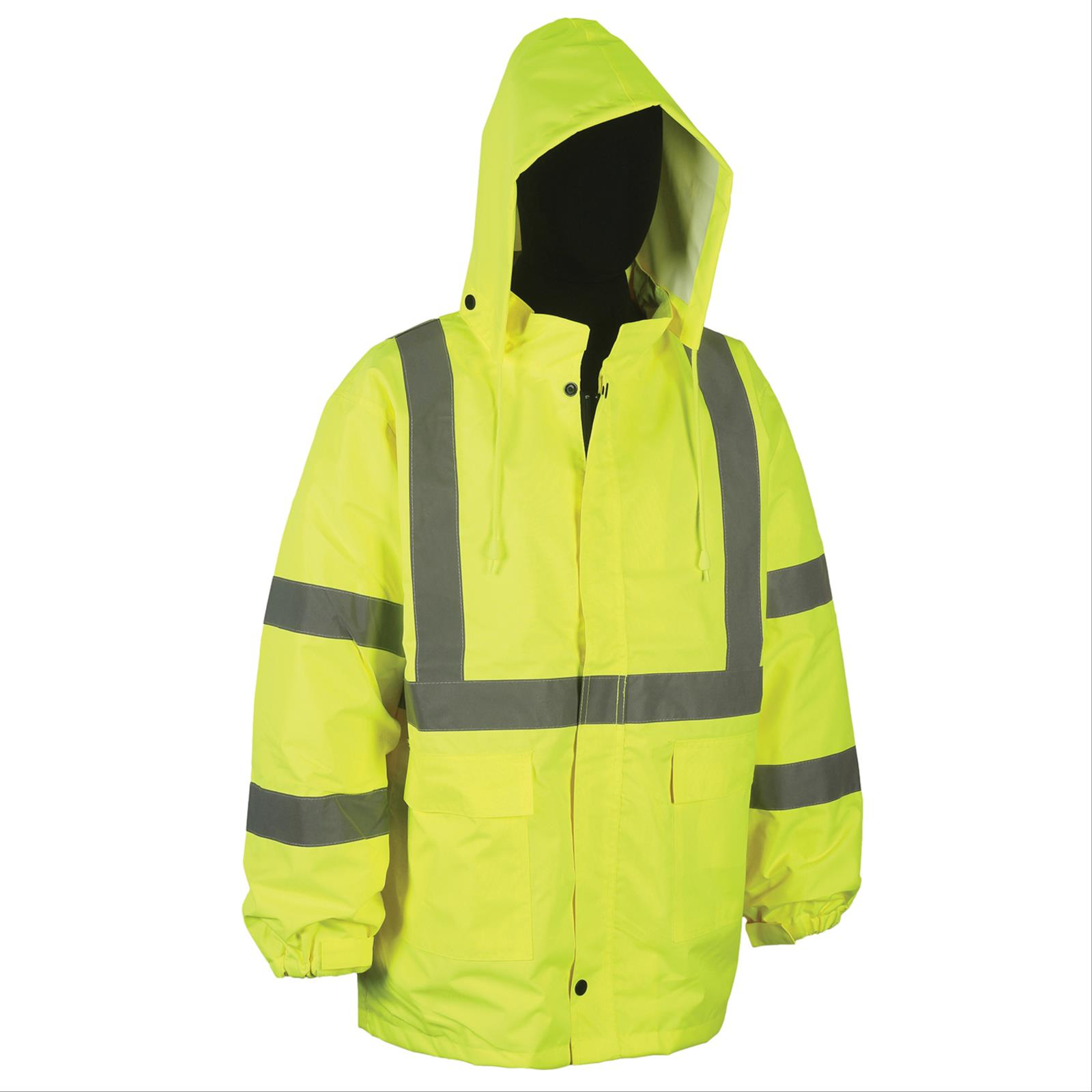Safety Products Inc - 100% Waterproof Rain Jacket, Class 3 Type R ...