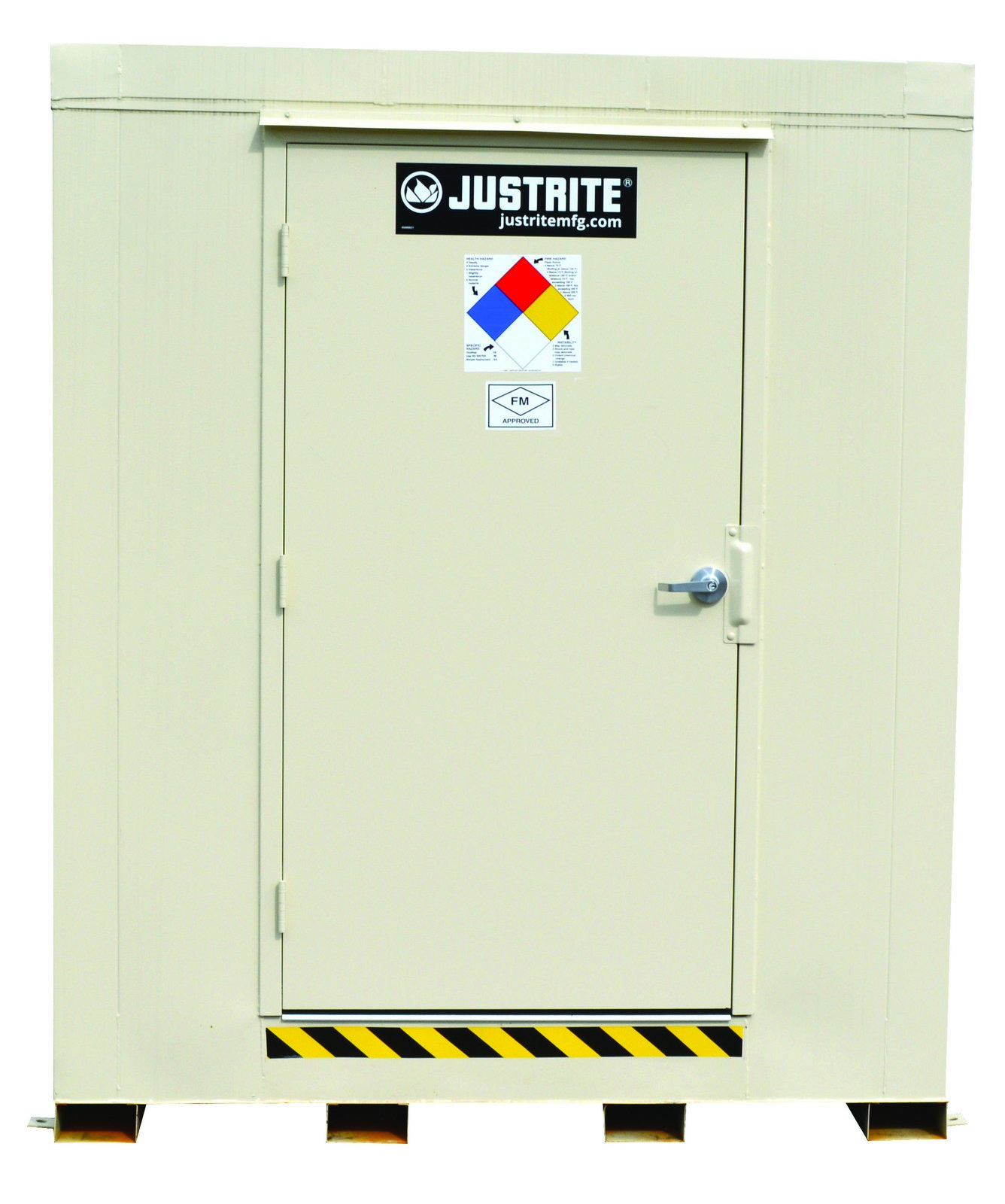 2-Hour Fire-Rated Outdoor Safety Locker, Explosion Relief Panels