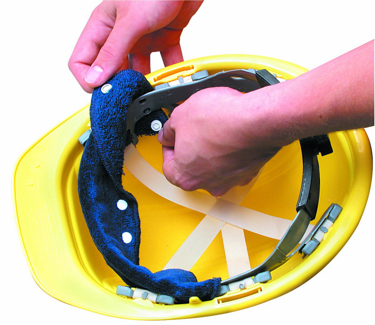 Terry Toppers® Snap-On Hard Hat Sweatband