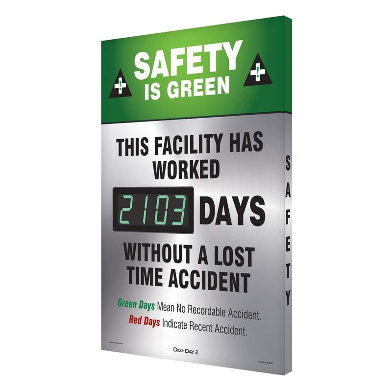 Digi-Day® 3 Electronic Safety Scoreboards