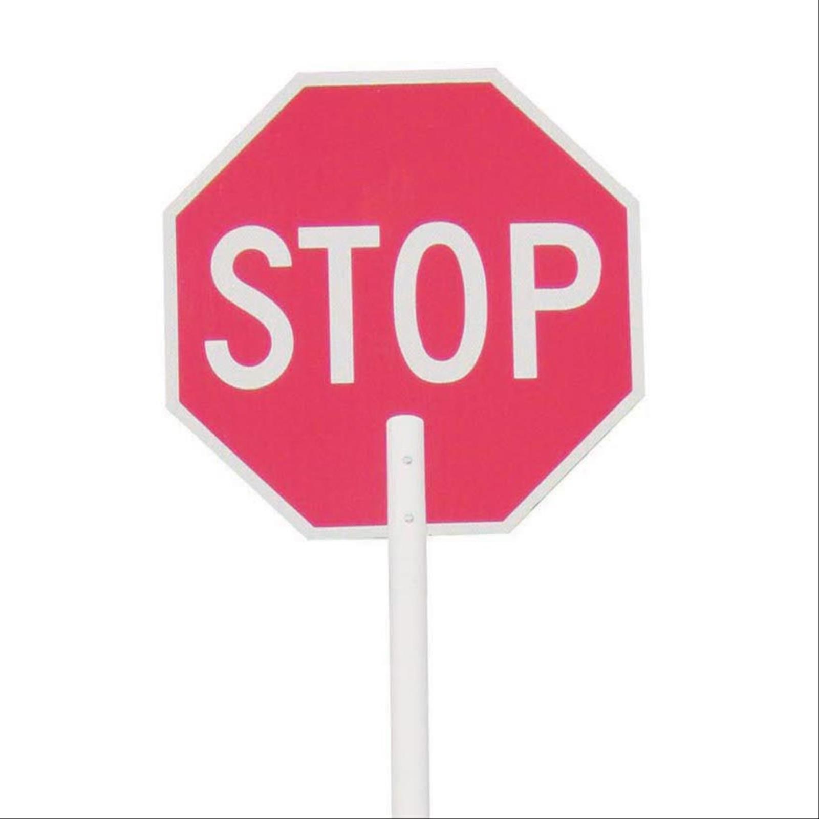 "Stop/Stop Signs With 8"" Handle"