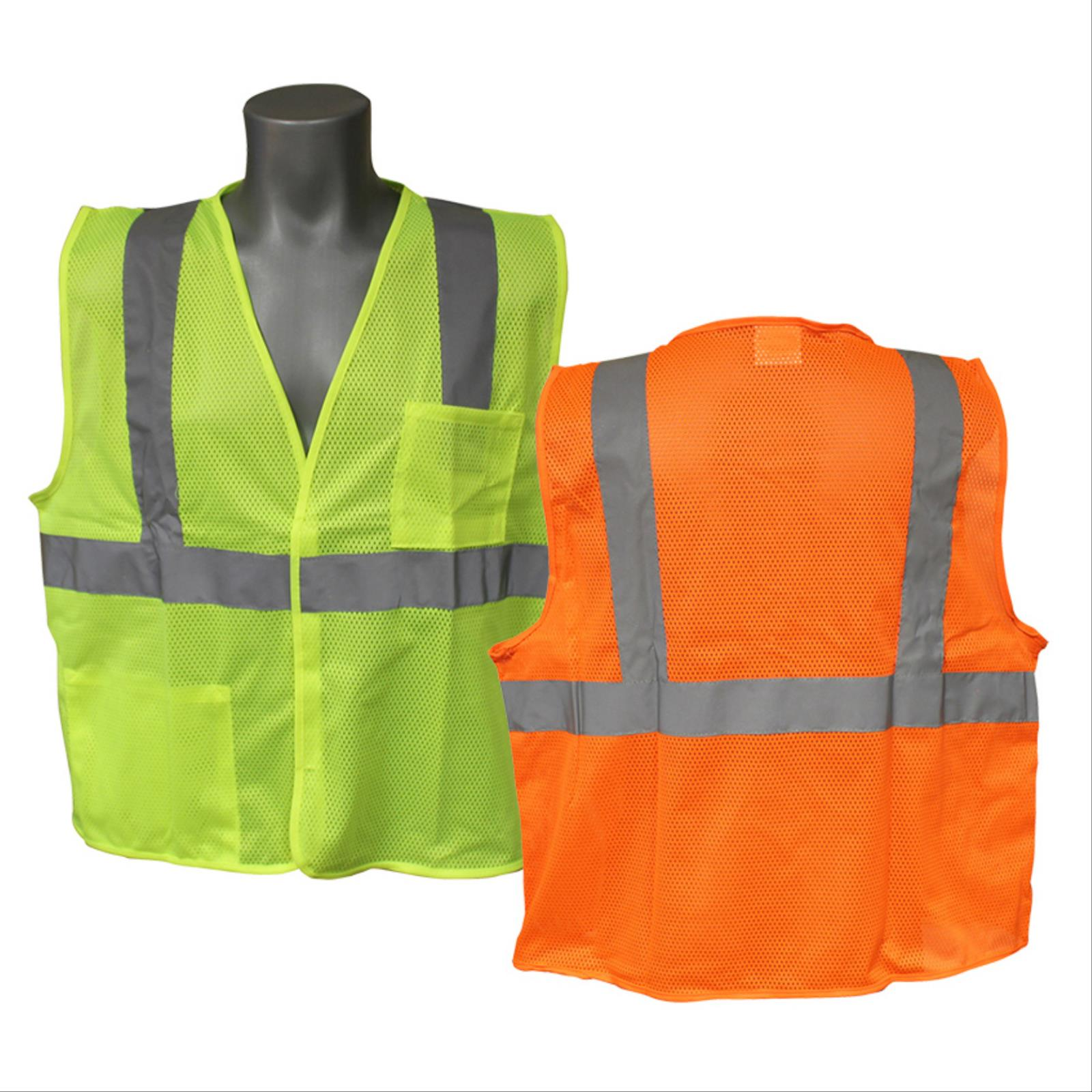 Safety Vest with Hook and Loop, Class 2 Type R
