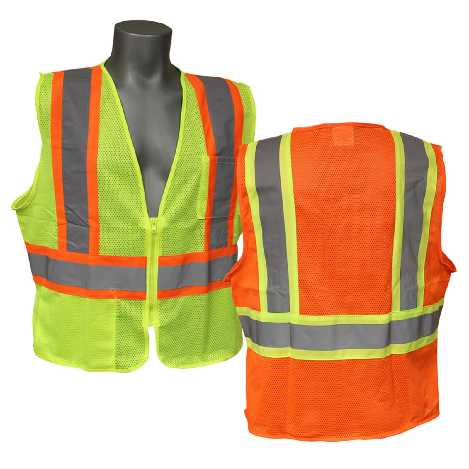 Two-Tone Safety Vest with Zipper, Class 2 Type R