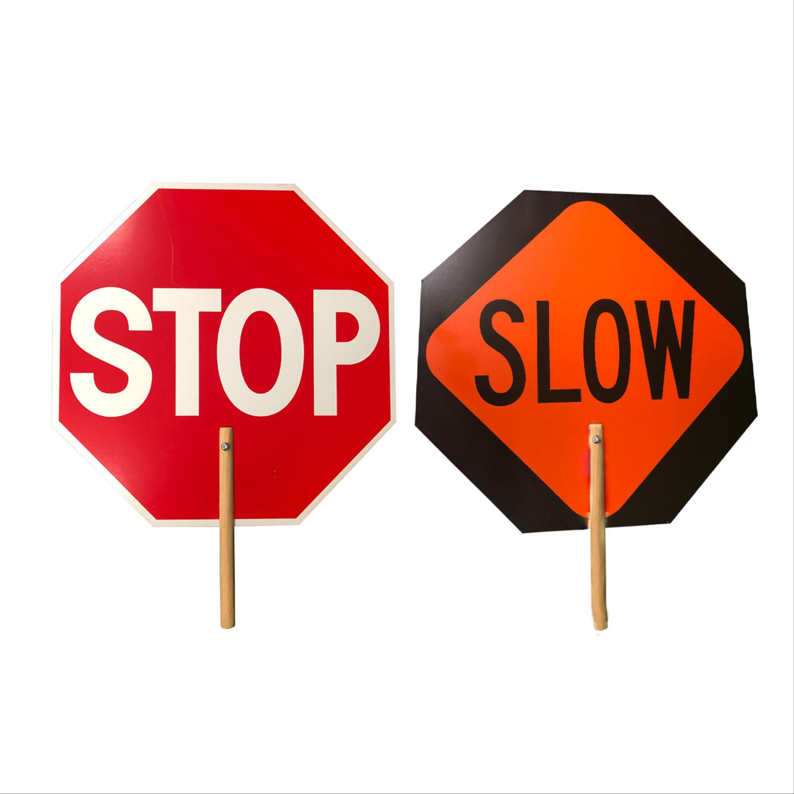 "Stop/Slow Signs With 8"" Handle"