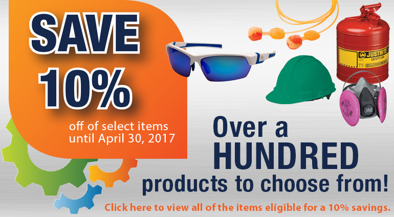 Save 10 Percent on Safety Products