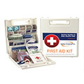 First aid kits can be easily overlooked. Take frequent inventory of your first aid kit supplies and make sure that it can service the right amount of people for your jobsite.