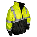 There are lots of ways to keep warm this season, but these jackets are ANSI approved.  There are many variations to choose from with zip-off sleeves, removable liners and color blocking to hide dirt.  Shop now for jackets!
